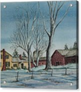 Cozy Winter Night Acrylic Print