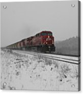 Cp Rail 2 Acrylic Print by Stuart Turnbull