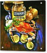 Crab Fixin's Acrylic Print