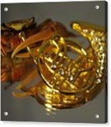 Crab Play Horn Acrylic Print