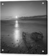Crab Trap Sunset Le Bw Acrylic Print