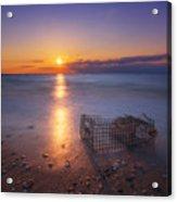 Crab Trap Sunset Le Acrylic Print