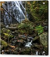 Crabtree Falls In Autumn Acrylic Print