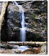 Crabtree Falls In Fall Acrylic Print