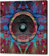 Cracked Music Speaker 3 Acrylic Print