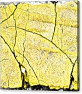 Cracked Yellow Paint Acrylic Print