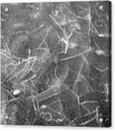 Cracks In Mountain Ice Acrylic Print