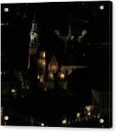 Cracow By Night Acrylic Print