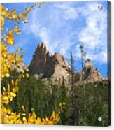 Crags In Fall Acrylic Print