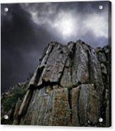 Crags Acrylic Print by Meirion Matthias