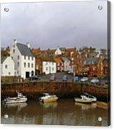 Crail Harbour Fife Acrylic Print