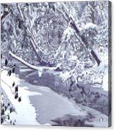 Cranberry River Winter Heavy Snow Acrylic Print