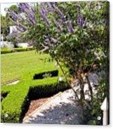 Crane Cottage Garden In Spring Acrylic Print