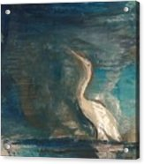 Crane Acrylic Print by Gregory Dallum