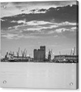 Cranes At The Port Of Thessaloniki Acrylic Print