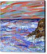 Crashing Of The Waves Acrylic Print