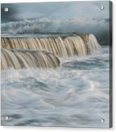 Crashing Sea Waves And Small Waterfalls Acrylic Print