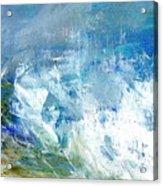 Crashing Waves Against The Shore Acrylic Print