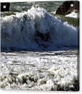 Crashing Waves At Goat Rock Acrylic Print