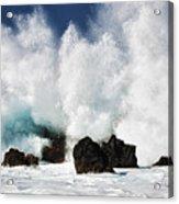 Crashing Waves At Laupahoehoe Point. Acrylic Print