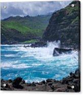 Crashing Waves - Nakalele Point  Acrylic Print