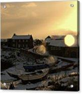 Craster Harbour In Winter 2 Acrylic Print