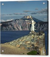 Crater Lake - A Most Sacred Place Among The Indians Of Southern Oregon Acrylic Print by Christine Till