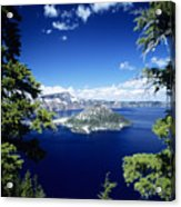 Crater Lake Acrylic Print by Allan Seiden - Printscapes