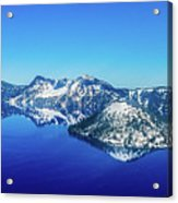 Crater Lake Blue Acrylic Print
