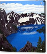 Crater Lake Acrylic Print by Frederic Kohli