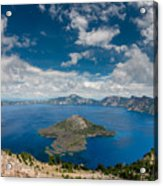 Crater Lake From Watchman Overlook Acrylic Print
