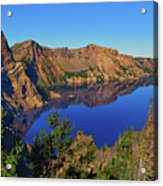 Crater Lake Morning Reflections Acrylic Print