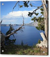 Crater Lake Perspective Acrylic Print