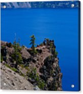 Crater Lake Point Overlook Acrylic Print