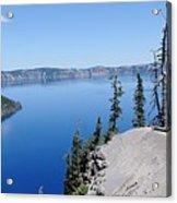 Crater Lake Scenic Panorama Acrylic Print