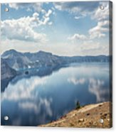Crater Lake With A View Of The Phantom Ship Acrylic Print