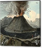 Crater Of Mount Vesuvius, Before 1767 Acrylic Print