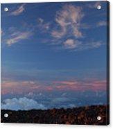 Crater Sunset Acrylic Print
