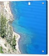 Crator Lake Shore Acrylic Print