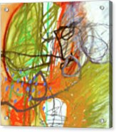 Crayon Scribble#3 Acrylic Print