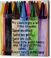 Crayons Acrylic Print