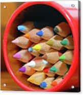 Crayons Acrylic Print by Graham Taylor