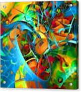 Crazy Blue 3566 Acrylic Print