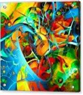 Crazy Blue 3569 Acrylic Print