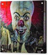 Crazy Clown Acrylic Print