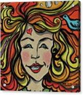 Crazy Hair Acrylic Print