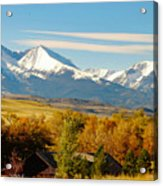 Crazy Mountain Homestead Acrylic Print