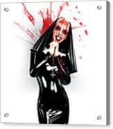 Crazy Nun Acrylic Print