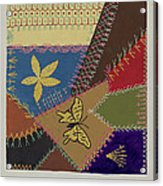 Crazy Quilt (section) Acrylic Print