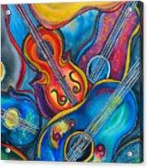 Crazy Strings Acrylic Print